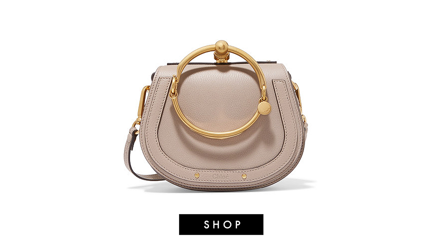 Chloe Nile Small Textured Leather Shoulder Bag